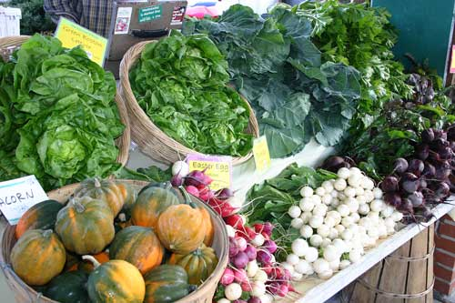 Thanksgiving offerings at the Carrboro farmers' market