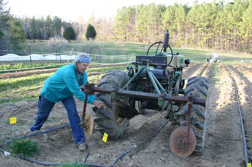 adjusting tractor