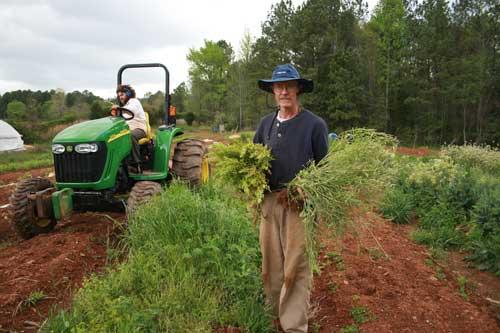 Doug Jones with seed plants