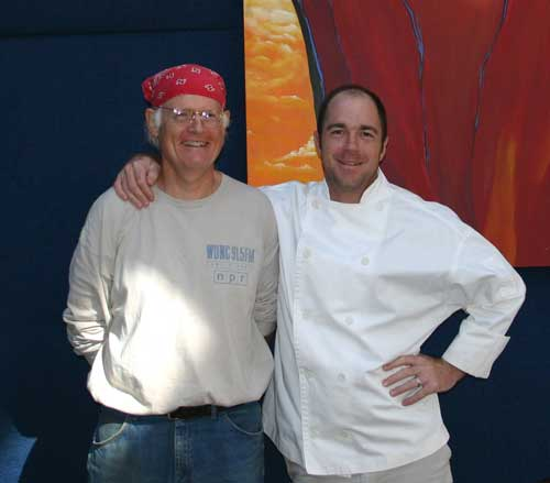 Bill Dow and Chef Proprietor Bret Jennings from Elaine's