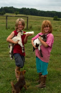 Chatham County young farmers and 4-Hers Dennet and Lilly Withington from Lilly Den Farm