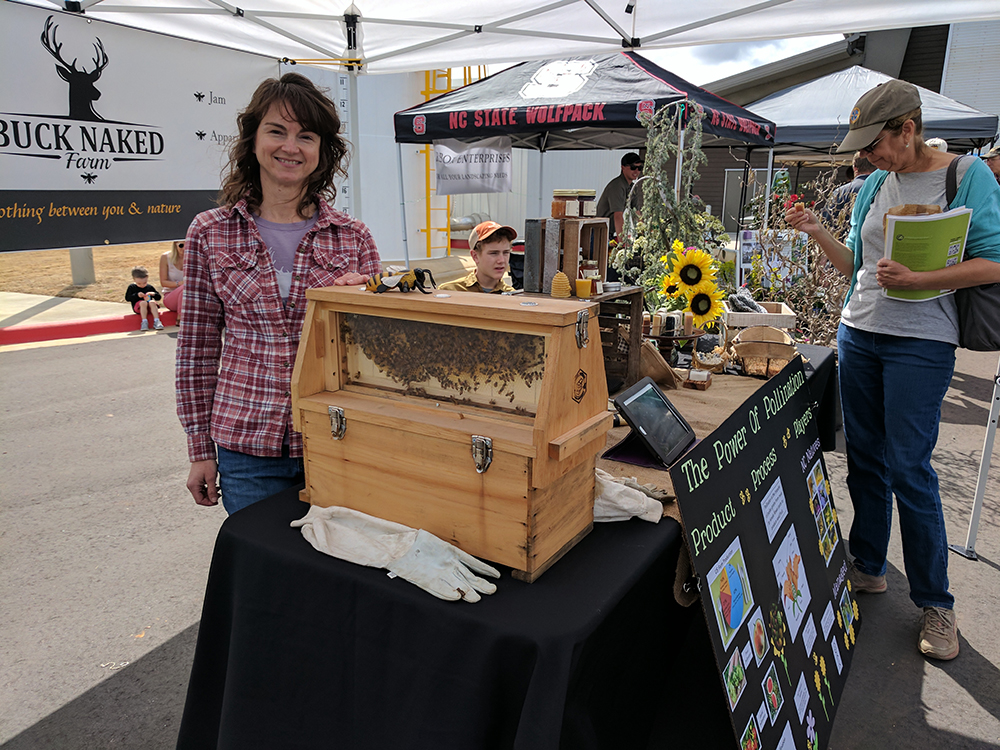 Jennifer Howard of Buck Naked Farm was one of the outside exhibitors.