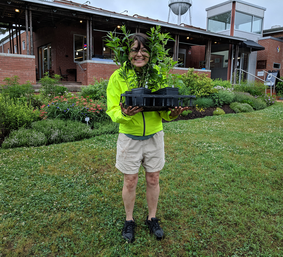 This lucky visitor won six pollinator plants donated by Niche Gardens!