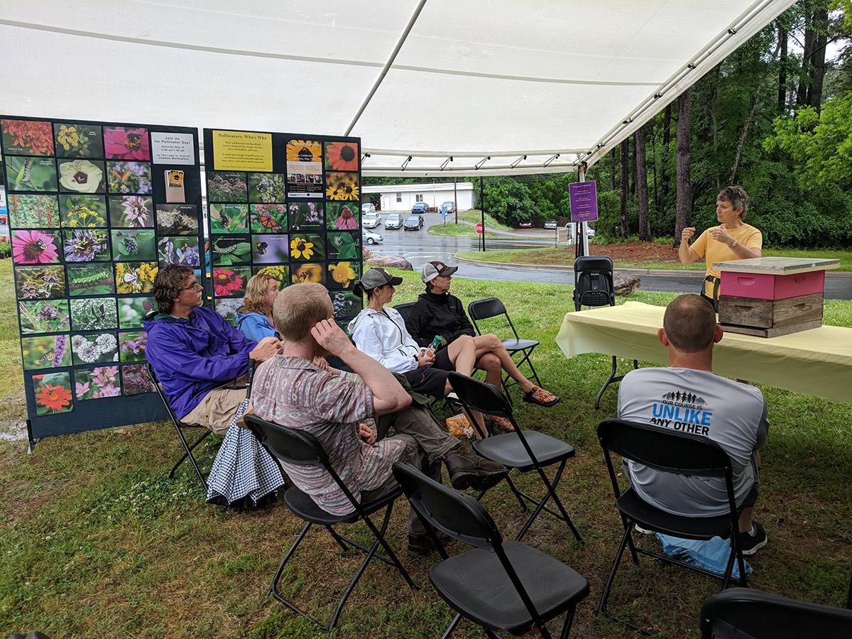 Beekeeper Lori Hawkins did a talk about beekeeping.