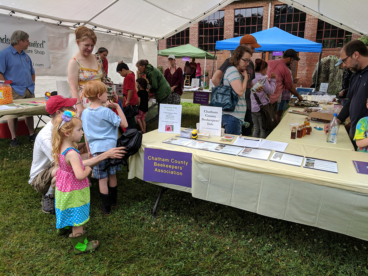 Each tent had different exhibits and activities.