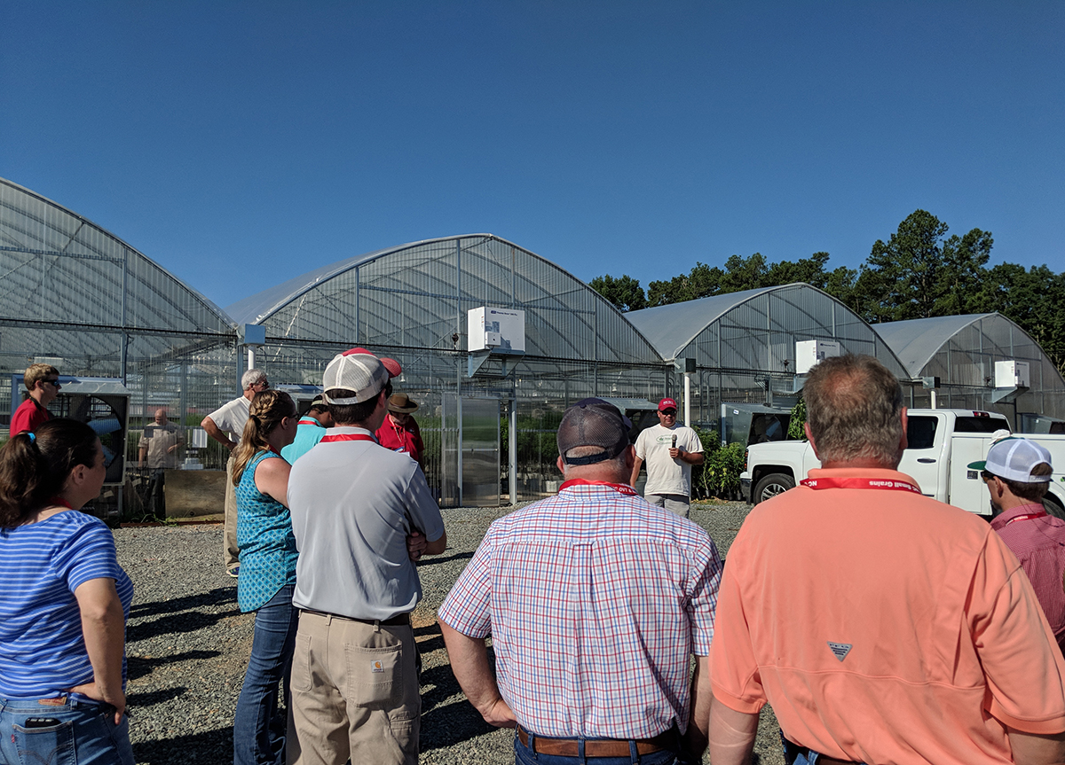 NC Cooperative Extension Agriculture Agents visited Broadway Hemp in Harnett County.