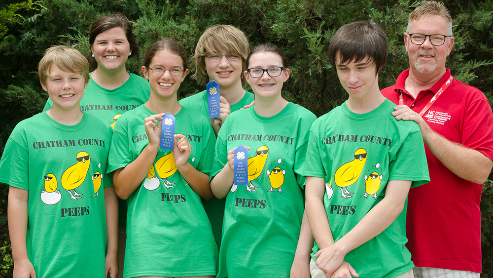 NC State 4-H Poultry Judging Contest held in Raleigh