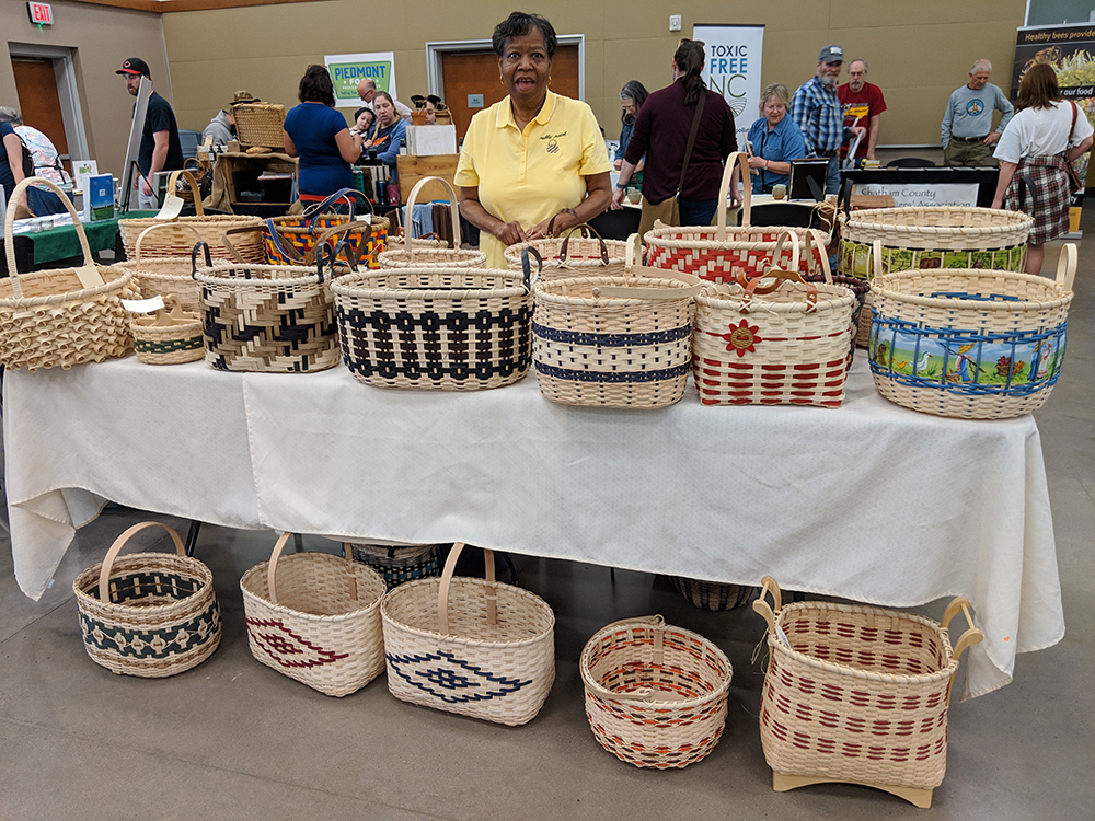 Eva Green of Rabbit Patch Baskets sold her beautiful handmade baskets.