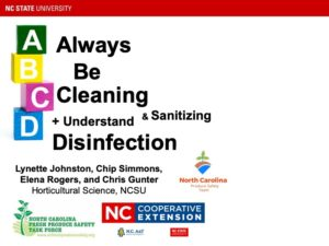 Cover photo for Always Be Cleaning & Sanitizing + Understanding Disinfection Webinar