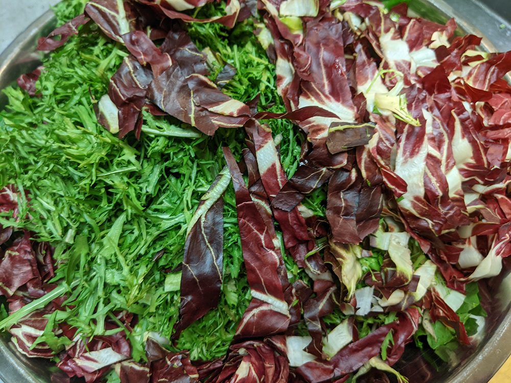 Radicchio and mustard greens