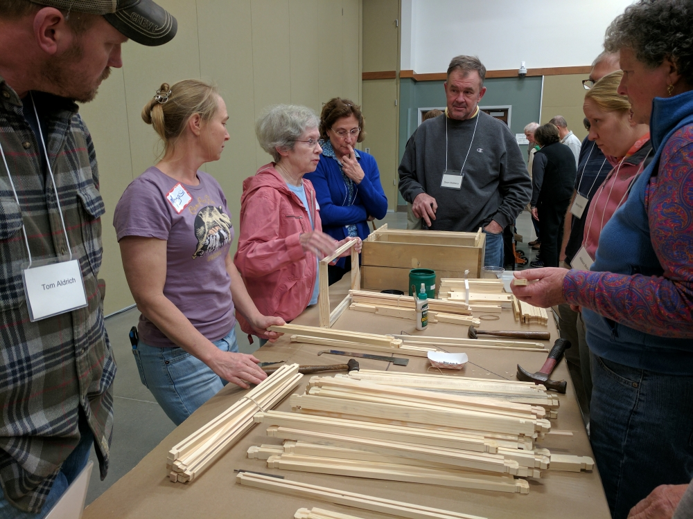 Judy Pick teaches aspiring beekeepers
