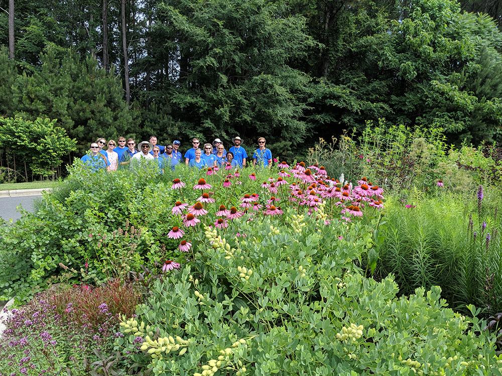 Pollinator Garden tour group